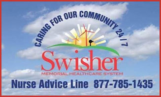 Swisher - Caring For Our Community 24 / 7 - Nurse Advice Line is 877-785-1435
